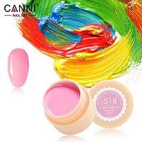 Гель-краска Canni №518 яркая розовая, 5 мл