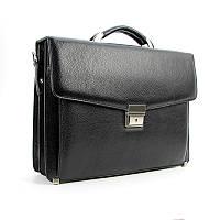 Сумка портфель мужской кожаный черный деловой для документов Canpellini can-2026-011
