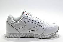 Белые кожаные кроссовки в стиле Reebok Classic Leather, White, фото 3