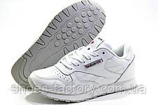 Белые кожаные кроссовки в стиле Reebok Classic Leather, White, фото 2