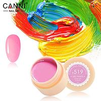 Гель-краска Canni №519 темно-розовая, 5 мл