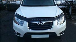 Дефлектор капоту, мухобойка Hyundai Santa Fe 2 2006R-> VIP