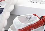 Женские сандали Versace Chain Reaction в стиле босоножки белые (Реплика ААА+), фото 6