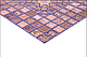 Листовая панель ПВХ на стену Регул, Мозаика (Медальон Фиолетовый), фото 3