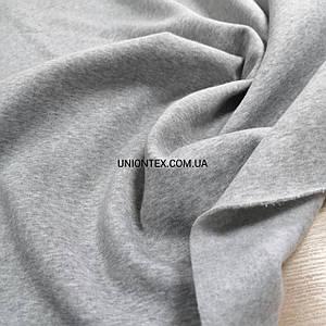 Футер трехнитка с начесом светло-серый меланж