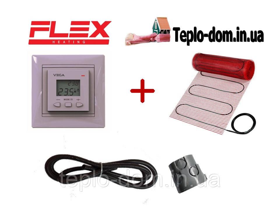 Тонкий мат для обогрева FLEX EHM - 175 /  7м  / 3.5 м2  / 612.5 Вт c Vega LTC 070