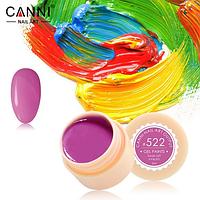 Гель-краска Canni №522 темная фуксия, 5 мл