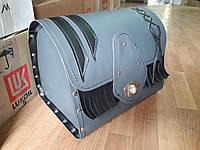 Кофр (багажник) Сірий закруглений для Мотоцикла