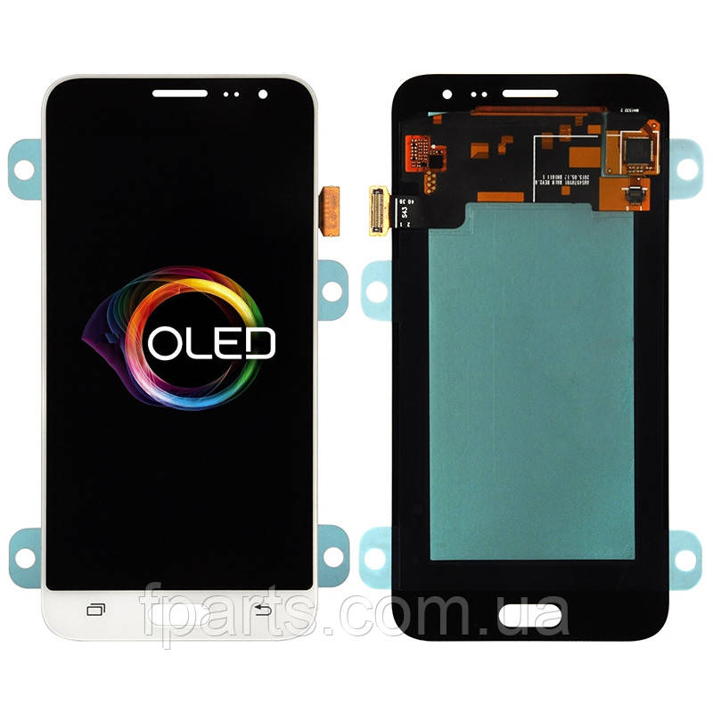 Дисплей для Samsung J320 Galaxy J3 2016 с тачскрином, White (OLED)