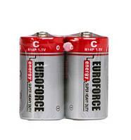 Батарейки EUROFORCE Super Heavy Duty R14/C (солевые)