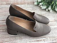 Кожаные Женские туфли 3179 беж размеры 35-40, фото 1