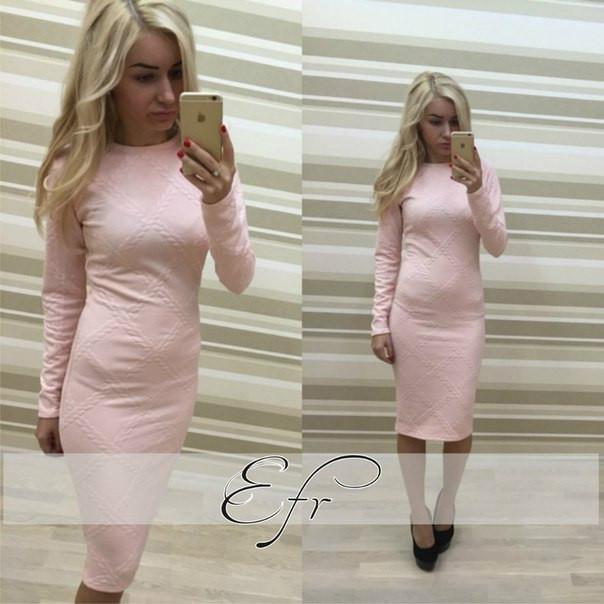 Платье из розового трикотажа