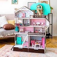 """Большой набор """"Дом Приключений венге для LOL"""" кукольный домик NestWood с мебелью и аксессуарами"""