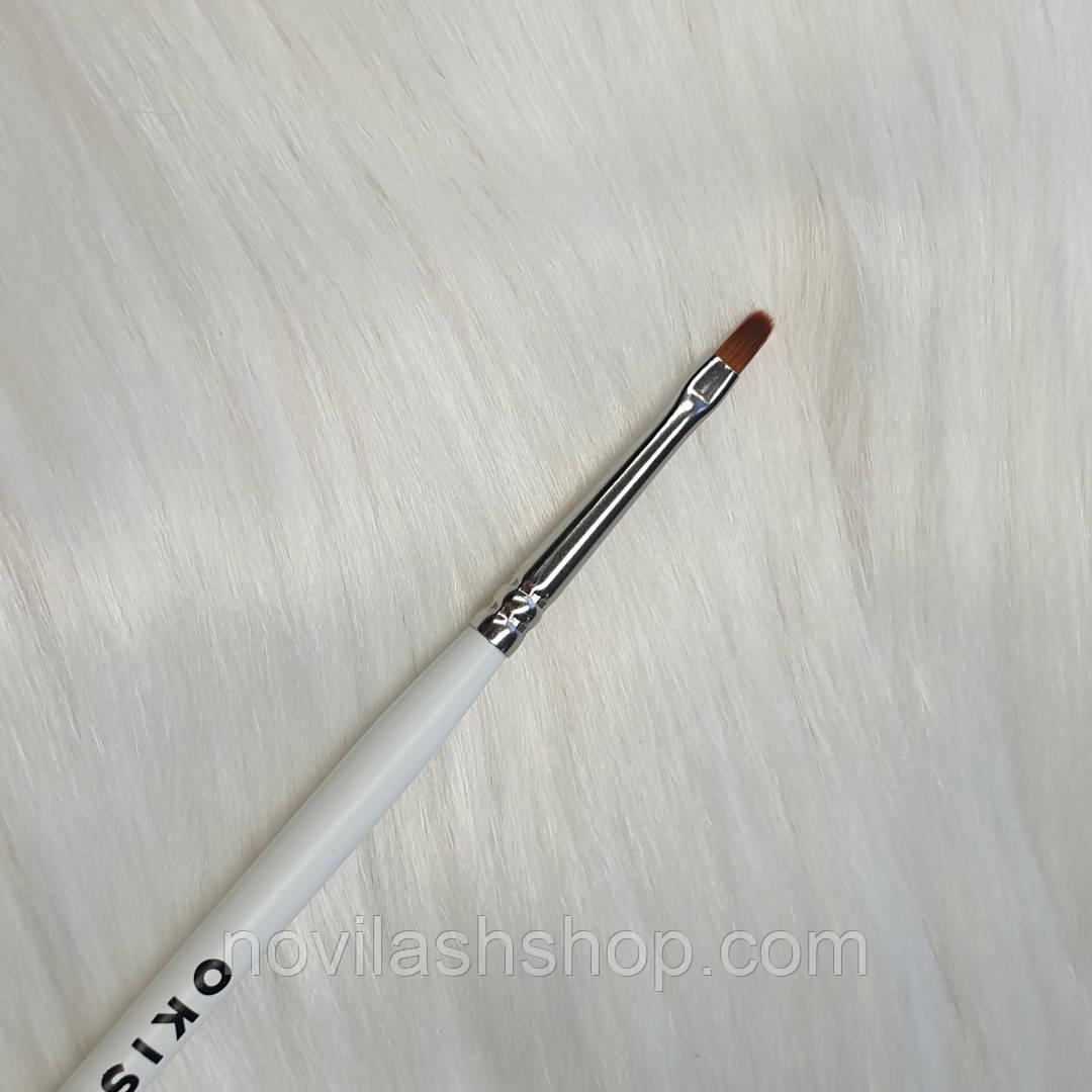 Пензлик для фарби C4 з нейлону овальна OKIS BROW