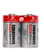 Батарейки EUROFORCE Super Heavy Duty R20/D (солевые)