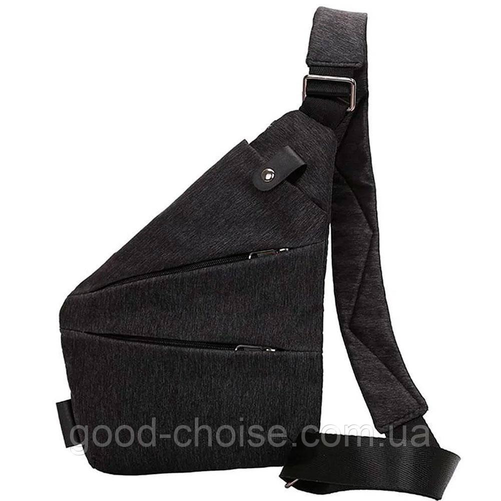 Мужская сумка + Подарок / Мессенджер Cross Body 30х22х15 Черная