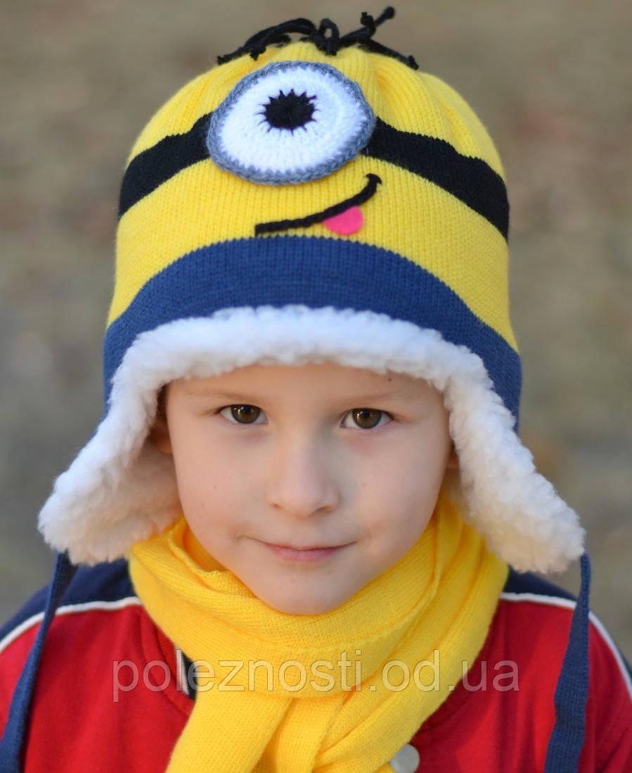 Миньон шапка+шарф, мех. комплект, размер 50-54