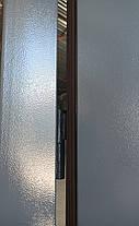 Металлические противопожарные входные двери Техно 2 утепленные на улицу и в тамбур серые (RAL 7024), фото 2