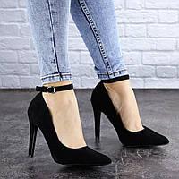Туфли женские на каблуке Fashion Brier 2107 37 размер 24 см Черный