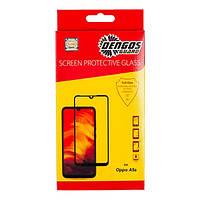 Захисне скло Oppo A5S Full Glue (чорне) Dengos