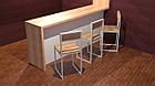 Классический белый металлический стул в кафе, фото 3