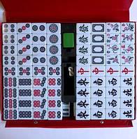 Игра Маджонг Большой с номерами. Mahjong в ПВХ кейсе, коробка 37х27х4см, тайлы: 4х2,9х2см.