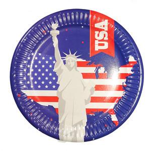 """Тарілки паперові """"Америка"""", 10 шт, Набор тарелок """"Америка"""""""
