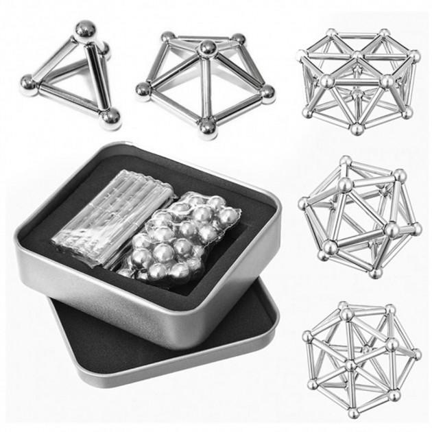 Магнитный конструктор Neocube Neo 45 деталей серебристый 130110