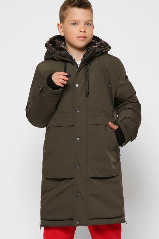 Модная длинная теплая куртка подростковая