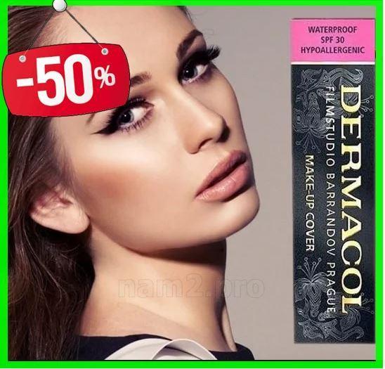 Тональный крем для лица Dermacol c повышенными маскирующими свойствами, стойкая тоналка Дермакол 210, 30 г