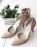 Кожаные Женские туфли 91020/3беж/л размеры 36-41, фото 1
