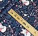 """Польская хлопковая ткань """"лисички с орнаментом на синем"""", фото 2"""