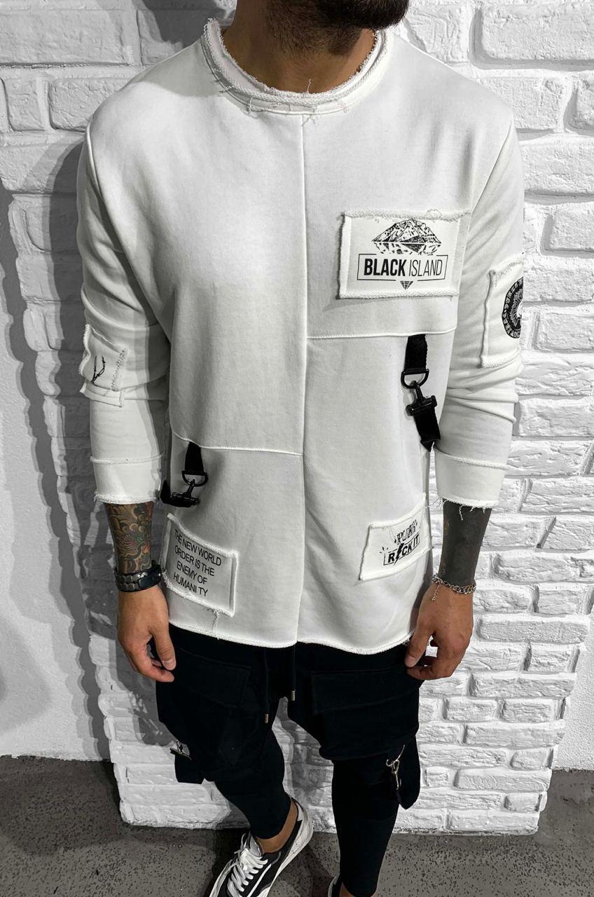 Мужской лонгслив Black Island ADA1005 white
