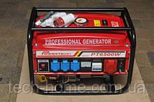 Генератор бензиновий 3-х фазний Німеччина Powertech PT6500W 4,5 кв (220\380) вт