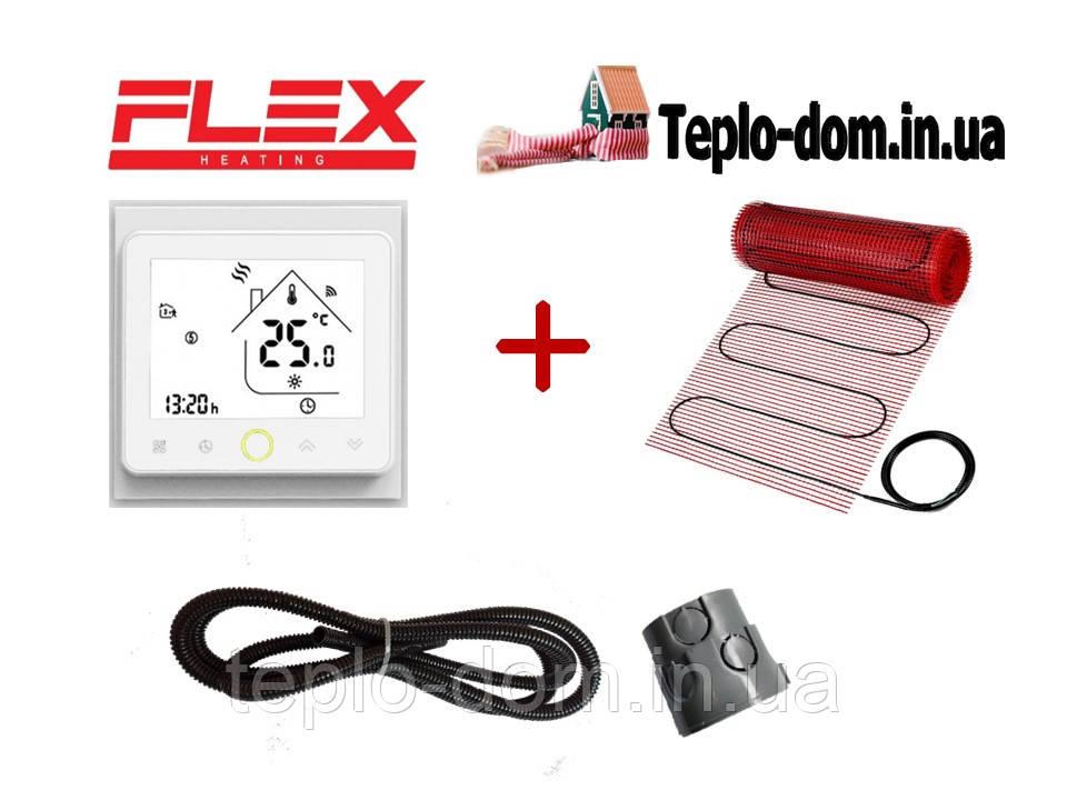 Тонкий мат для теплого пола FLEX EHM - 175 /  3м  /  1.5м2  /  262.5 Вт с WI-FI thermostat TWE02
