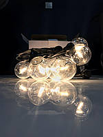 Cветодиодная ретро-гирлянда лампочки Lumion Filament Bulb String G45 4м 20 ламп цвет белый теплый, фото 1