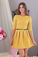 Платье короткое мини структурный трикотаж р.46-48 Yam151.8