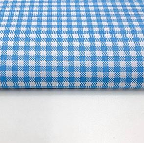 """Польская хлопковая ткань """"клетка голубая 5 мм"""", фото 2"""