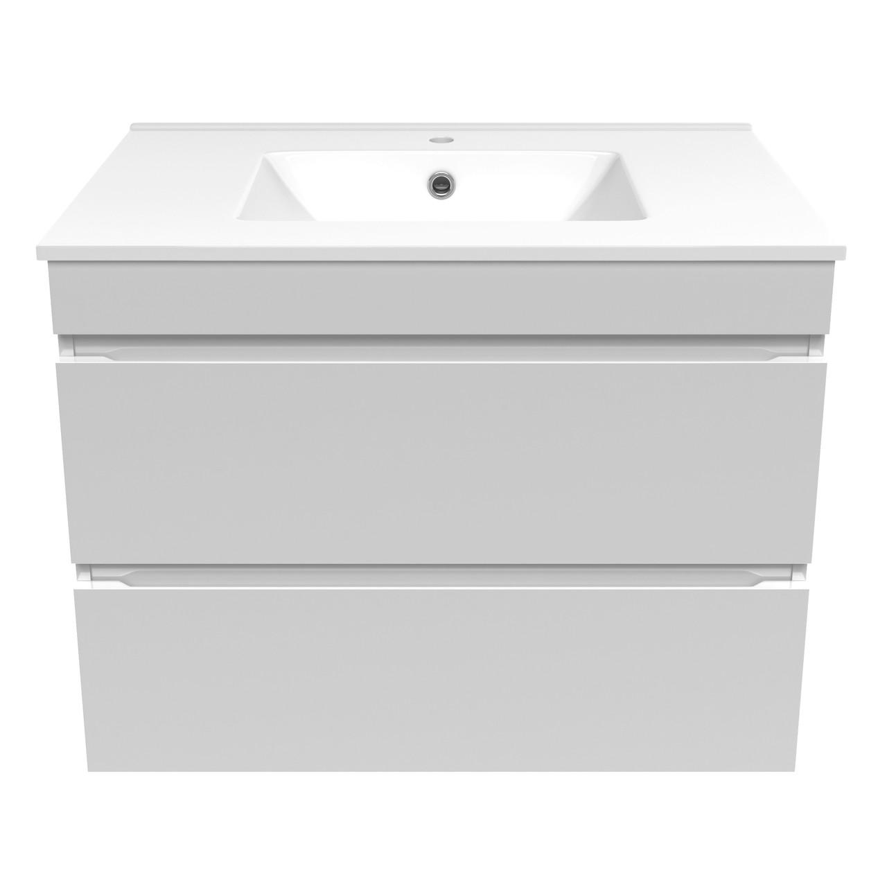 Звоните. Будет дешевле. Volle FIESTA Комплект мебели 800: тумба подвесная белая (2 ящика) + умывальник