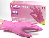 Рожеві одноразові рукавички нітрилові Style Grenadine S (6-7)