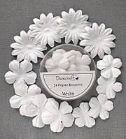 Набор цветов Dovecraft Paper Blossoms White_БЕЛЫЙ, фото 1