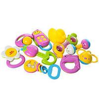 Набор погремушек 10 штук в колбе 3838A-34 игрушки для самых маленьких