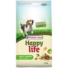 Happy Life Adult Dinner with Chicken сухой премиум корм для собак всех пород с курицей