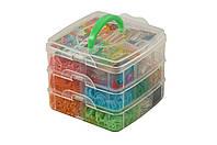Резинки для плетения браслетов 3000 Loom bands со станком в ящике, фото 1
