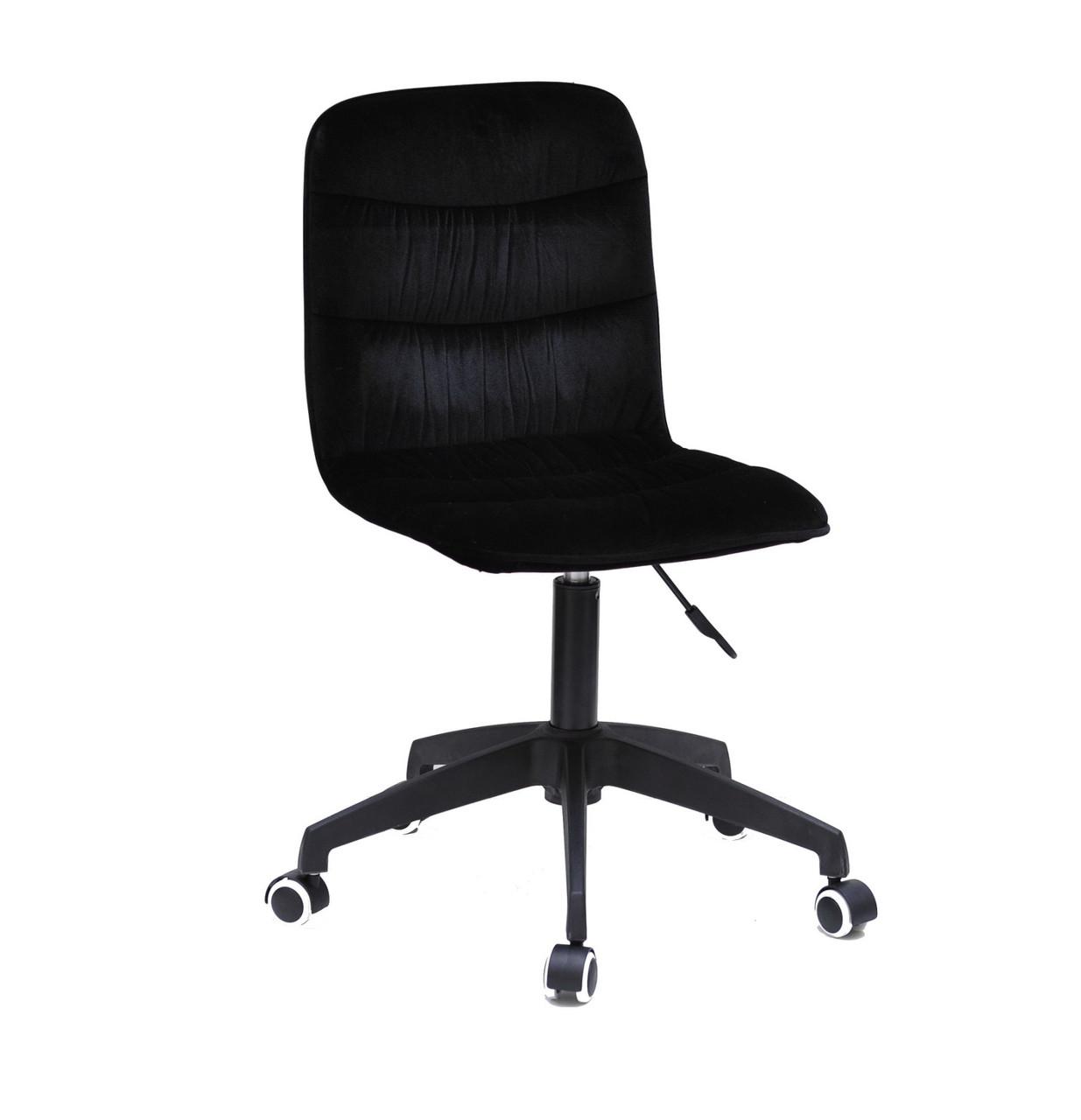 Кресло офисное  на колесах  SPLIT  MODERN  BK- OFFICE  бархат  , черный 1011