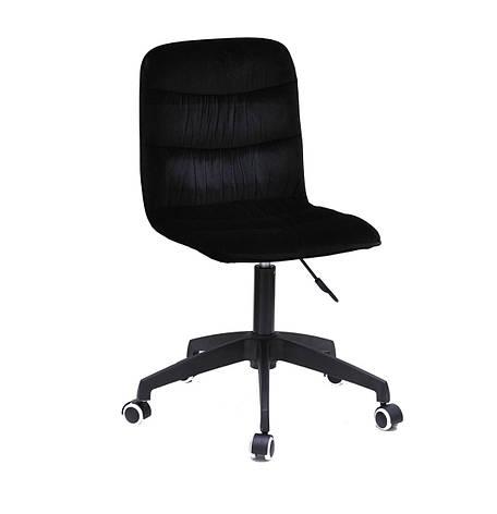 Кресло офисное  на колесах  SPLIT  MODERN  BK- OFFICE  бархат  , черный 1011, фото 2