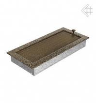 Вентиляционная решетка для камина KRATKI 17х37 см черно-золотая с жалюзи, фото 3
