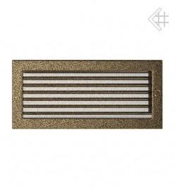 Вентиляционная решетка для камина KRATKI 17х37 см черно-золотая с жалюзи