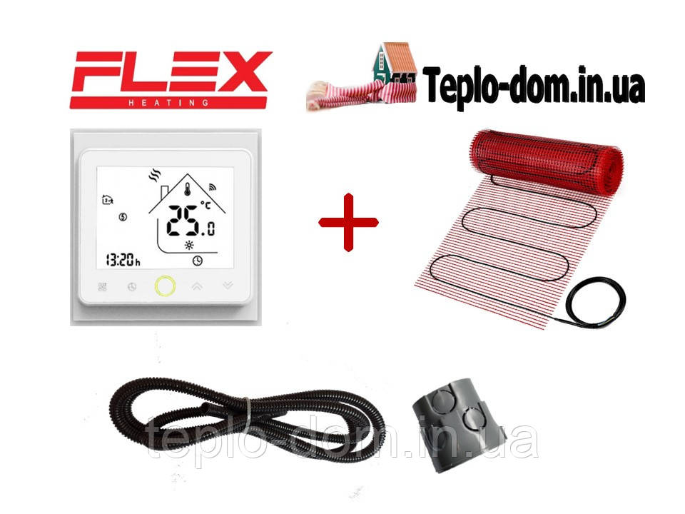 Мат для обогрева дома FLEX EHM - 175 /  22м  / 11 м2  / 1925 Вт с WI-FI thermostat TWE02