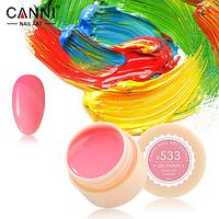 Гель-краска Canni №533 пастельная оранжево-розовая, 5 мл